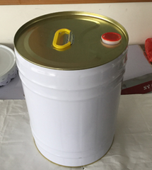 Round metal barrel for oil or chemical with leakproof flexible spout