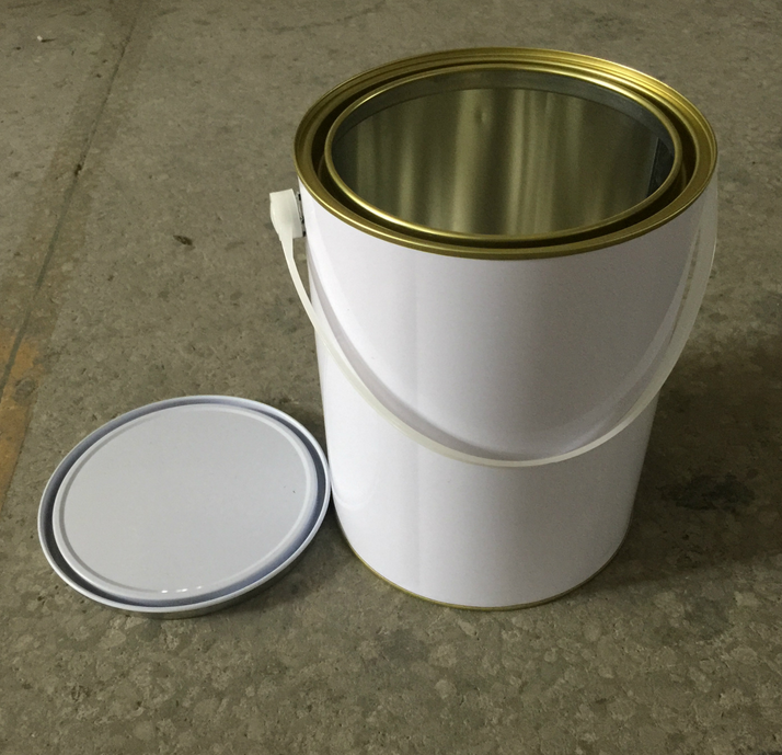 4L metal tin can for paints with metal handle 1