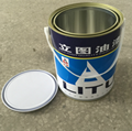 4L metal tin can for paints with metal handle 2