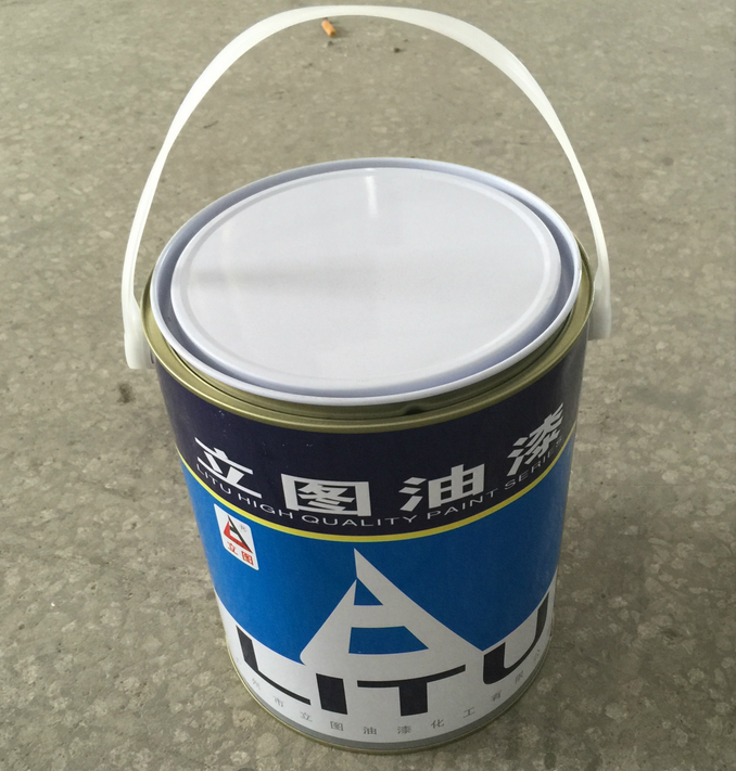 4L metal tin can for paints with metal handle 4