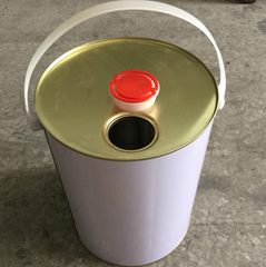 5L metal tin can for paints with metal handle