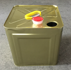 10L square barrel with metal handle for paint or oil