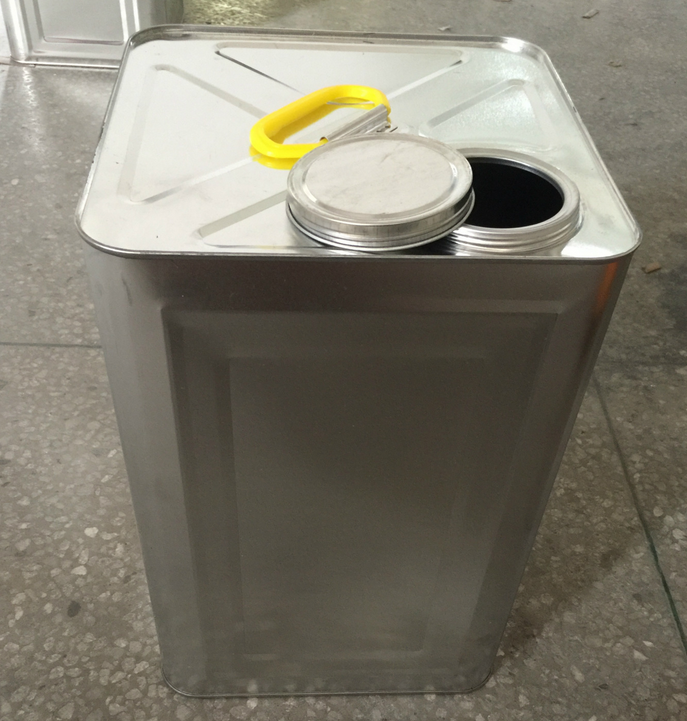 20L square barrel with metal leakproof lid for paint or oil