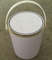 1 gallon metal tin can for paints with metal handle