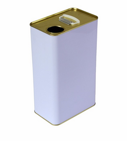 1L square metal tin can for olive oil 2