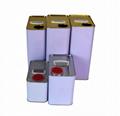 5L square metal tin can  3