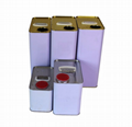 4L square metal tin can for food and chemical packing 4