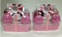 Cherry Blossom Bath Gift Set for women