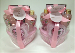 wholesale Popular Red Rose Bath Gift Set