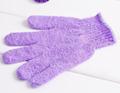 Colorful nylon bath glove for shower,