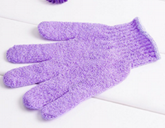 Colorful nylon bath glove for shower,