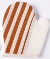 Fashion hemp hand bath gloves for shower