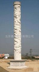 漢白玉龍柱雕刻
