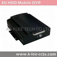 3G Mobile DVR, 3G/WIFI/G-sensor/GPS opcional