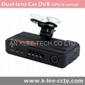 Dual Lens Dash Cam with 720p GPS