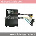 4 canales DVR portátil, 4 unidades de