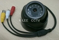 IR Dome Camera, SONY 1/3 CCD, 12leds, audio 3