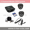 2CH Mobile DVR System, Sony IR Cam, D1 resoution