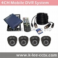 4CH Mobile DVR System, WIFI/GPS optional