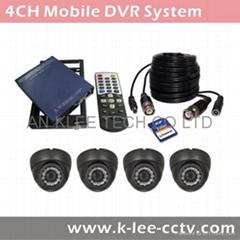 4CH Mobile DVR System, WIFI/GPS optional