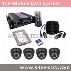 4Channel Mobile DVR System, 4ch HDD DVR,  WIFI/GPS optional