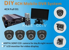 4CH Mobile Security System, WIFI/GPS optional