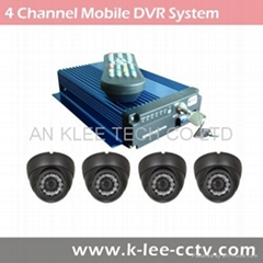 4CH Mobile DVR Solution, GPS optional