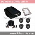 4CH Mobile DVR System, 3G/WIFI/GPS