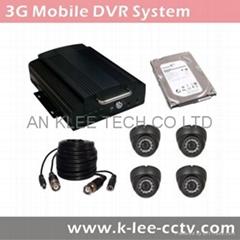 4CH Mobile DVR System, 3G/WIFI/GPS/G-sensor optional