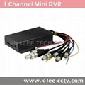 1 Channel DVR with 64GB SD Support D1 Resolution