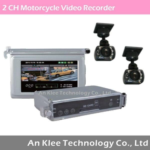 Motorcycle Camera Recorder with 2 Camera GPS