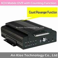 4 Channel HDD Mobile DVR with 3G GPS WIFI G-sensor