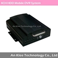 4CH HDD Mobile DVR with 3G GPS G-sensor