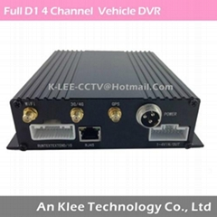 4 Channel Bus DVR with Full D1 GPS 3G WIFI