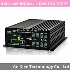 8 Channel Vehicle DVR with 3G GPS WIFI G-sensor
