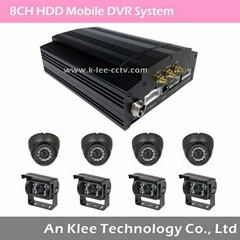 8 Channel HDD Mobile DVR with 3G GPS