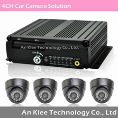 4 Channel Vehicle DVR System with 3G GPS WIFI