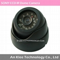 IR Dome Camera, SONY 1/3 CCD, 24leds, audio