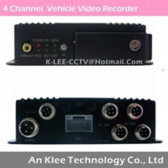 4 Channel SD Mobile DVR with 3G GPS G-sensor