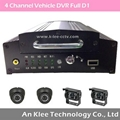 4 Channel Vehicle DVR with Full D1, 3G GPS WIFI G-force