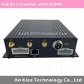 4 Channel Full D1 Bus DVR with 3G GPS
