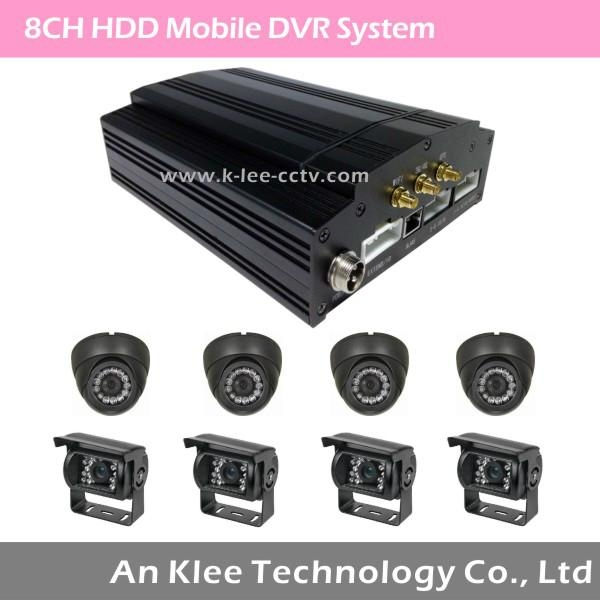 8 Channel HDD Mobile DVR with 3G GPS WIFI G-sensor