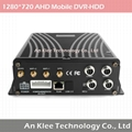 4 Channel AHD 720P Mobile DVR with 3G GPS WIFI G-sensor