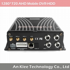 4 Channel AHD 720P Mobile DVR with 3G GPS WIFI G-sensor