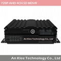 4 Channel AHD SD Mobile DVR with 4G GPS WiFi G-sensor