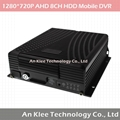 8 Channel AHD 720P Mobile DVR with 4G GPS WIFI G-sensor