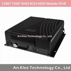 8 Channel AHD 720P Mobile DVR with 4G GPS WIFI G-sensor