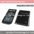 1280*720 1 Channel Mini DVR with 256GB Support