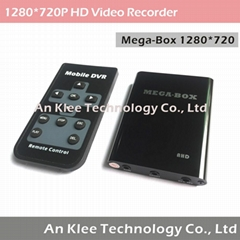 1280*720 1 Channel Mini DVR with 256GB
