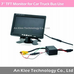 7inch TFT Color Car Monitor with 800*480, AHD Support